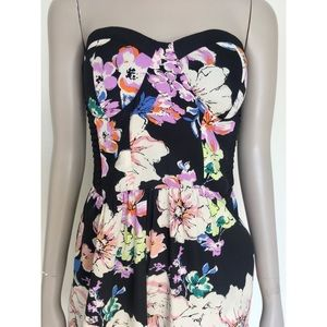 Band Of Gypsies Floral Bustier Jumpsuit